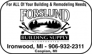 For All Of Your Building and Remodeling Needs