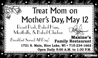 Treat Mom on Mother's Day