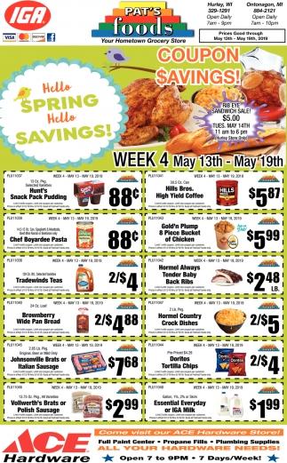 Hello Spring Hello Savings