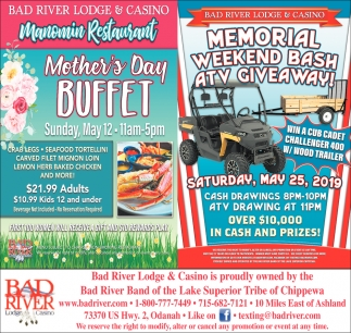 Manomin Restaurant Mother's Day Buffet