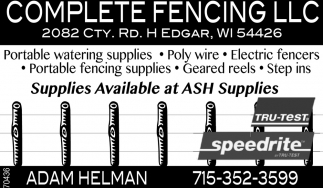 Portable watering supplies, Ply wire, Electric fencers