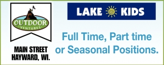 Full Time, Part Time or Seasonal Positions
