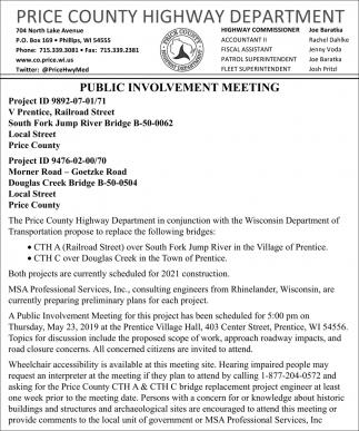Public Involvement Meeting
