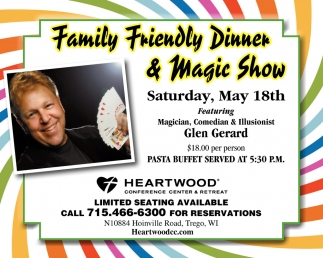 Family Friendly Dinner & Magic Show