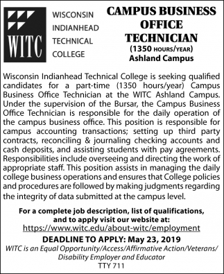 Campus Business Office Technician