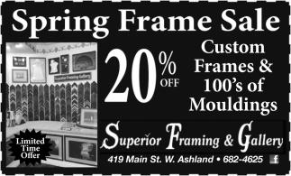 20% off Custom Frames