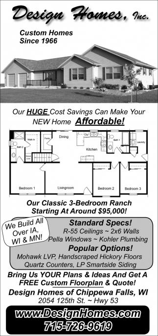 Merveilleux Custom Homes Since 1966, Design Homes, Inc, Chippewa Falls, WI