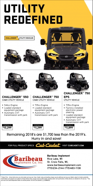 Challenger Utility Vehicles