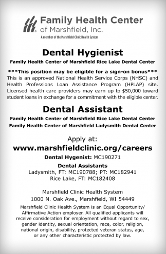 Dental Hygienist / Dental Assistant