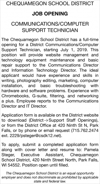 Communications/Computer Support Technician