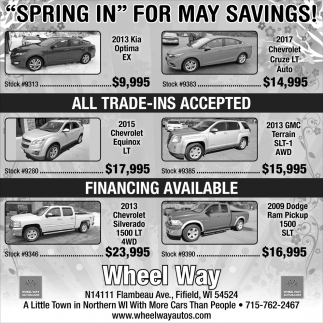 Spring In for May Savings!
