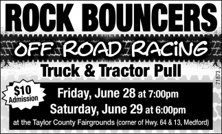 Rock Bouncers off Road Racing Truck & Tractor Pull