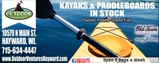 Kayaks & Paddleboards in Stock