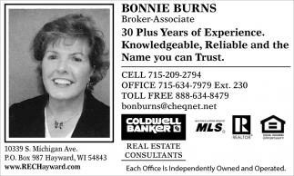 Bonnie Burns Broker Associate