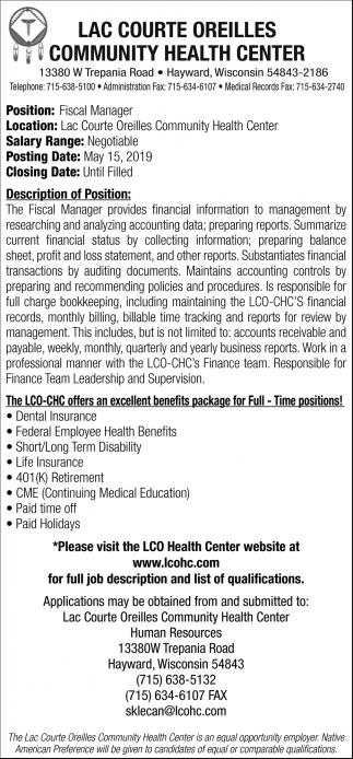 Fiscal Manager