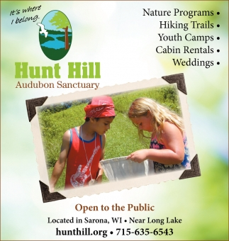 Nature Programs, Hiking Trails, Youth Camps, Cabin Rentals