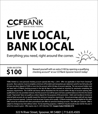 Live local, bank local
