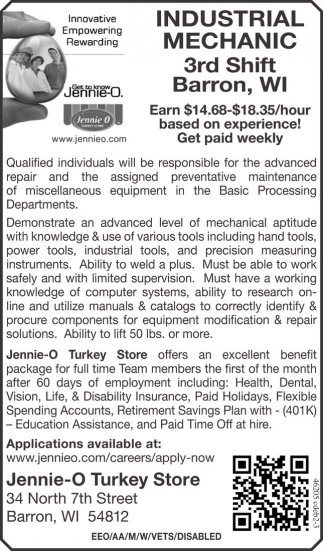 INDUSTRIAL MECHANIC