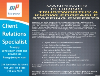 TRUSTWORTHY AND KNOWLEDGEABLE STAFFING EXPERTS