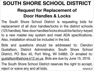 Request for Replacement of Door Handles & Locks