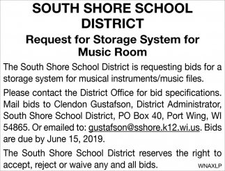 Request for Storage System for Music Room