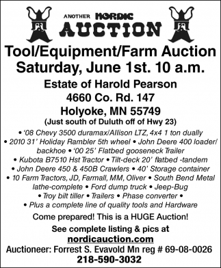 Tool/Equipment/Farm Auction