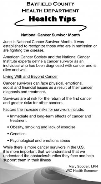 National Cancer Survivor Month