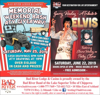 Memorial Weekend Bash ATV Giveaway / Garry Wesley A Tribute to Elvis