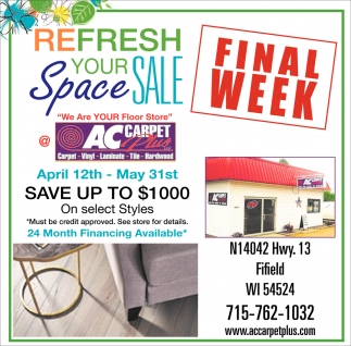 ReFresh Your Space Sale