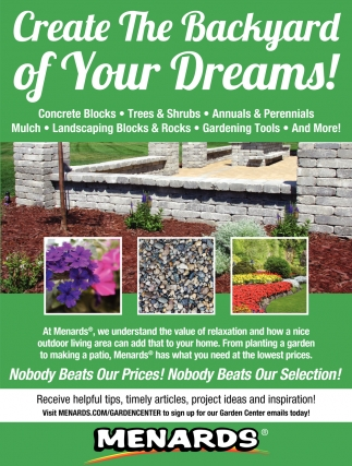 Create The Backyard of Your Dreams!