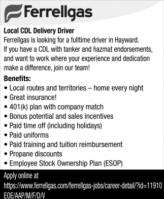Local CDL Driver