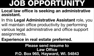 Legal Administrative Assistant