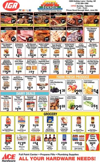 Dairy Deals, Farm Fresh Produce, Grocery