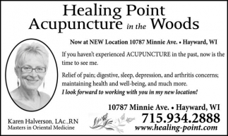 Acupunture in the Woods