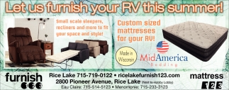 Let us furnish your RV this summer!