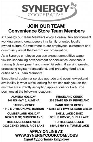 Conveninece Store Team Members