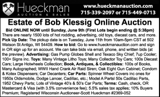 Estate of Bob Klessing Online Auction