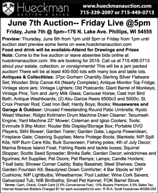 June 7th Auction