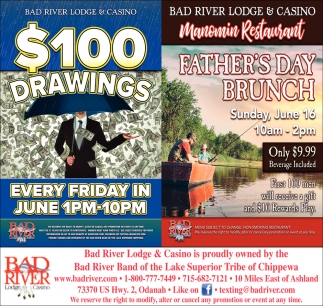 $100 Drawings / Father's Day Brunch