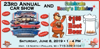 23rd Annual Car Show and Celebrate Rooty's Birthday