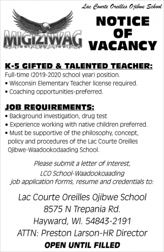 K-5 Gifted & Talented Teacher