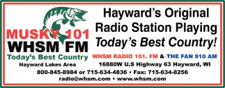 Hayward's Original Radio Station Playing Today's Best Country