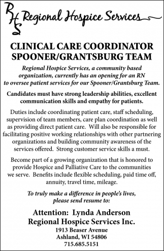 Clinical Care Coordinator
