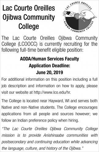 AODA/Human Services Faculty
