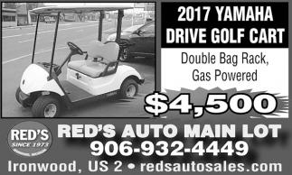 2017 Yamaha Drive Golf Cart