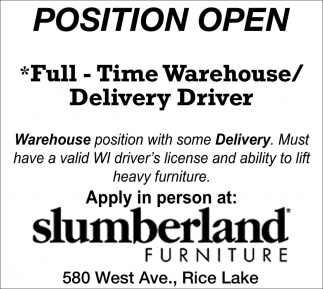 Warehouse / Delivery Driver
