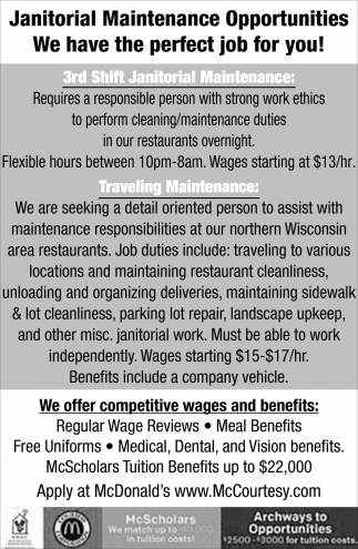 Janitorial Maintenance