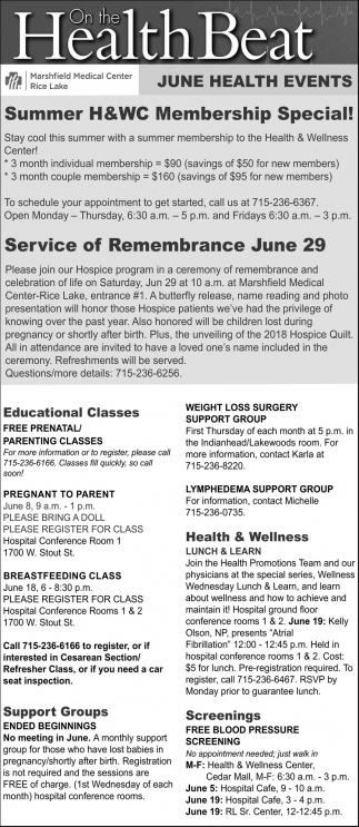 June Health Events