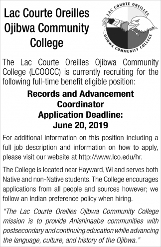 Records and Advancement Coordinator
