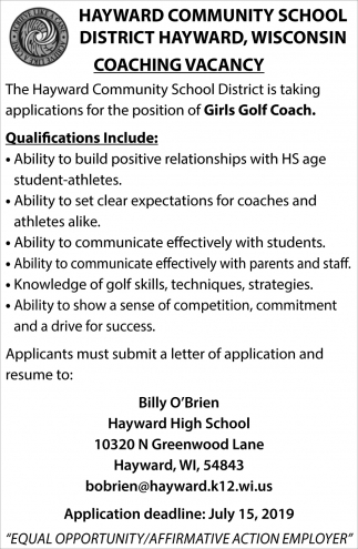 Girls Golf Coach